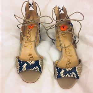 🚨NEW Sam Edelman Serene Snake Leather Heels 7